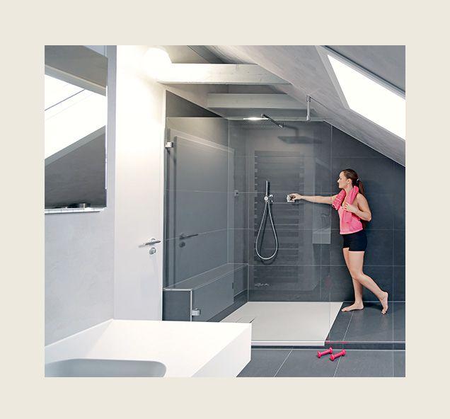 Badezimmer in individuellen Raumkonzepten