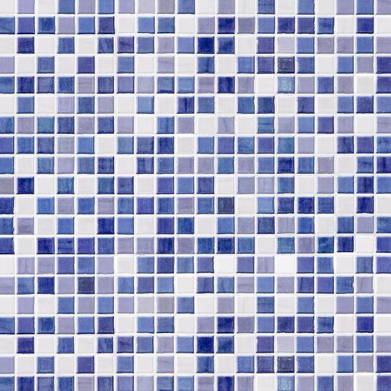 Mosaik-Fliesen blau