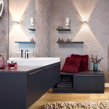 Warme Atmosphäre im Badezimmer durch passende Farbkonzepte