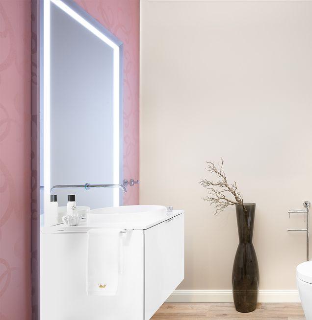 Farbgebung der Badezimmerwand
