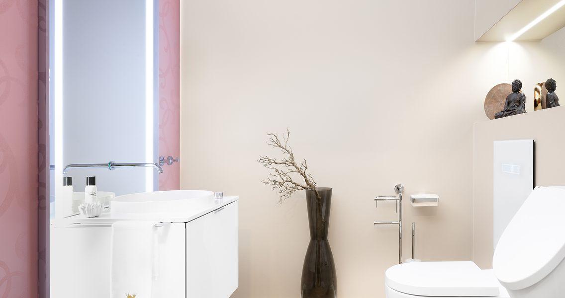 Badbeleuchtung am Badezimmerspiegel