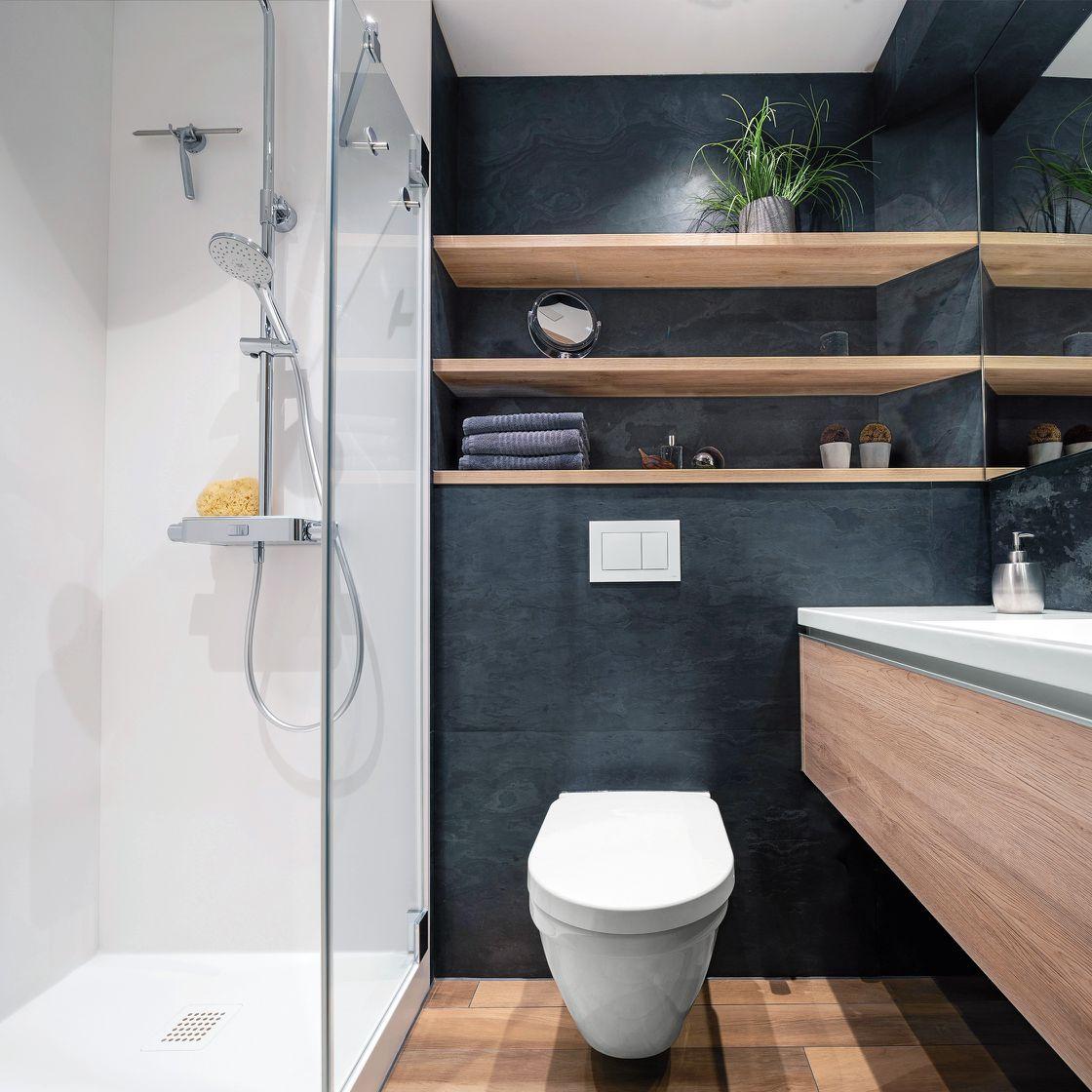 Duschbad in raumsparendem Design von Die Badgestalter