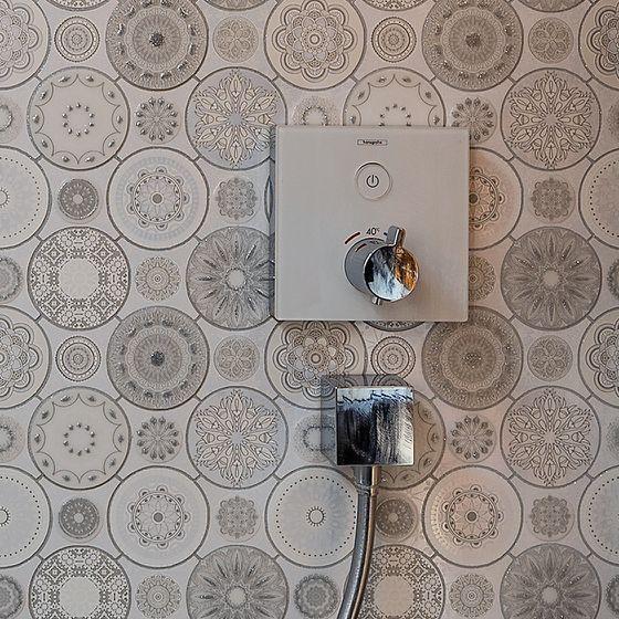 Aufputz Duscharmatur Dekorfliesen mit Relief