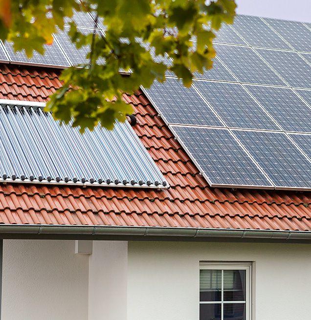 Sonnenkollektoren als Flachkollektoren