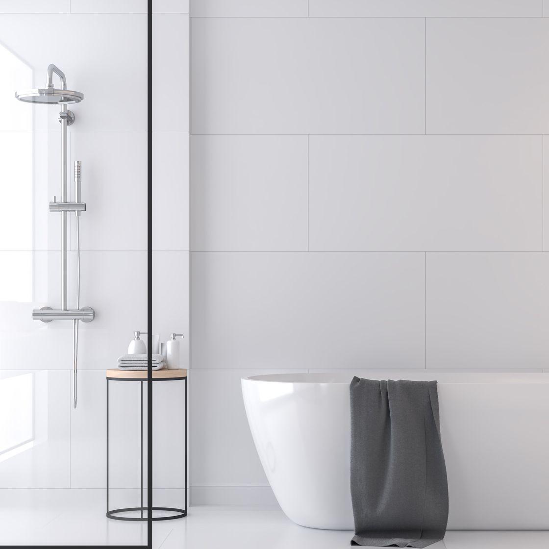 Badezimmer puristisch und modern