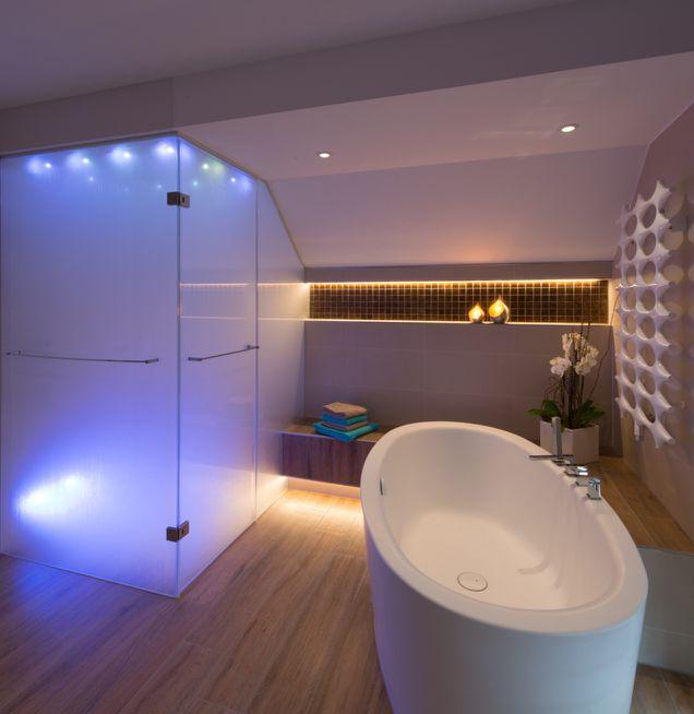 Variable Optionen für passende Lichttemperatur bei Die Badgestalter