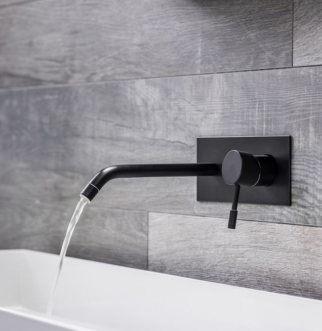 Badezimmer Armatur in schwarz