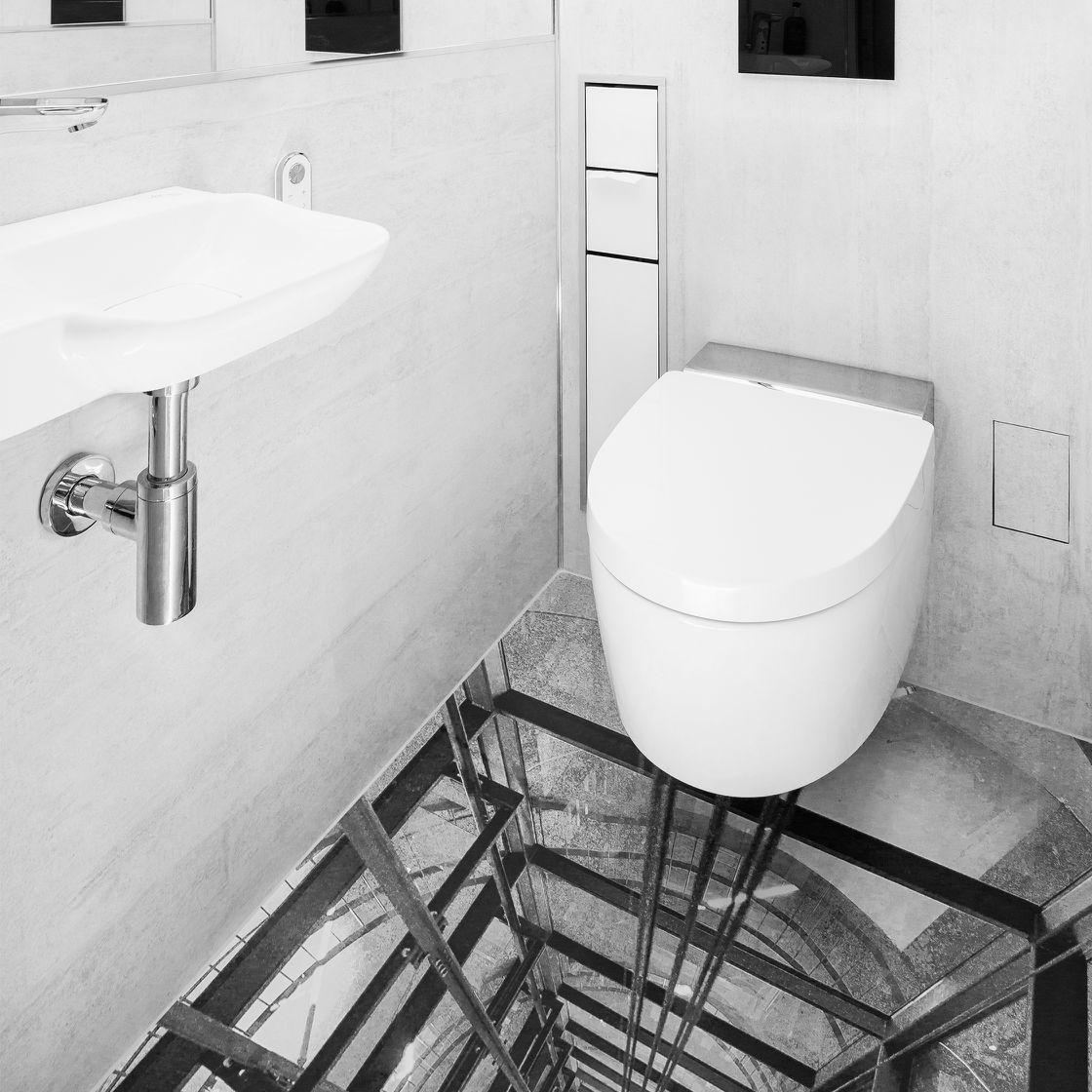 Gäste-WC Bodenbelag mit 3D Effekt