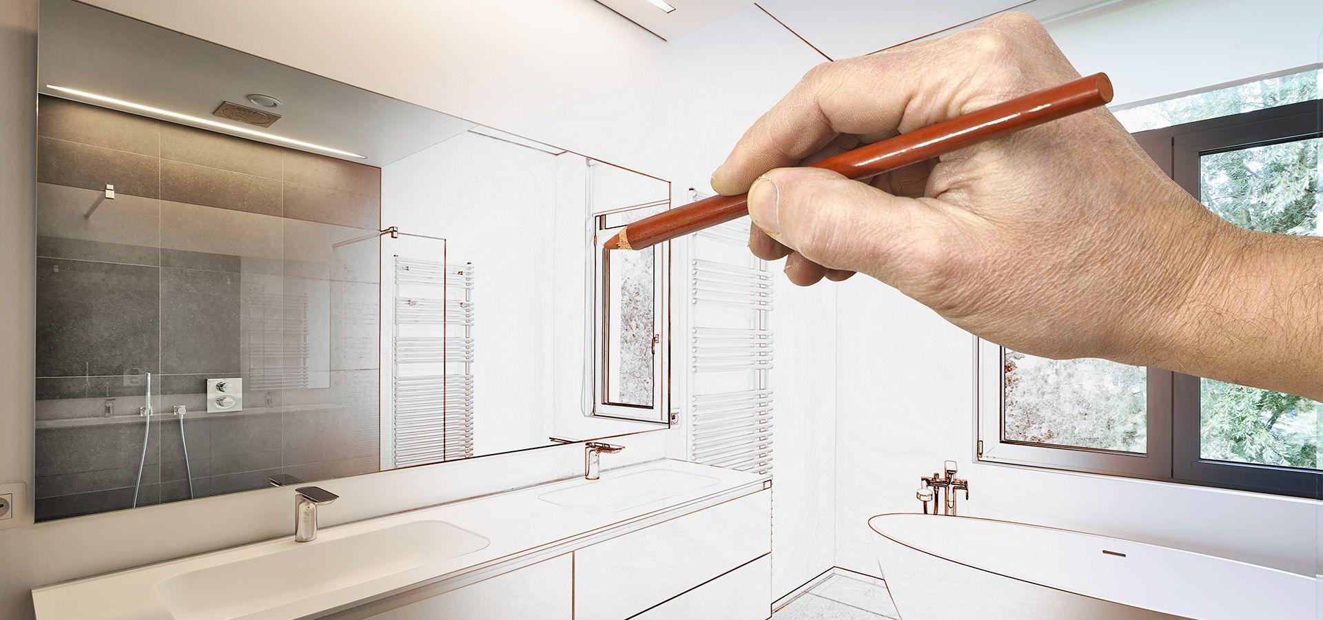 Planungsskizze Stilwelten Inspirationen durch Die Badgestalter