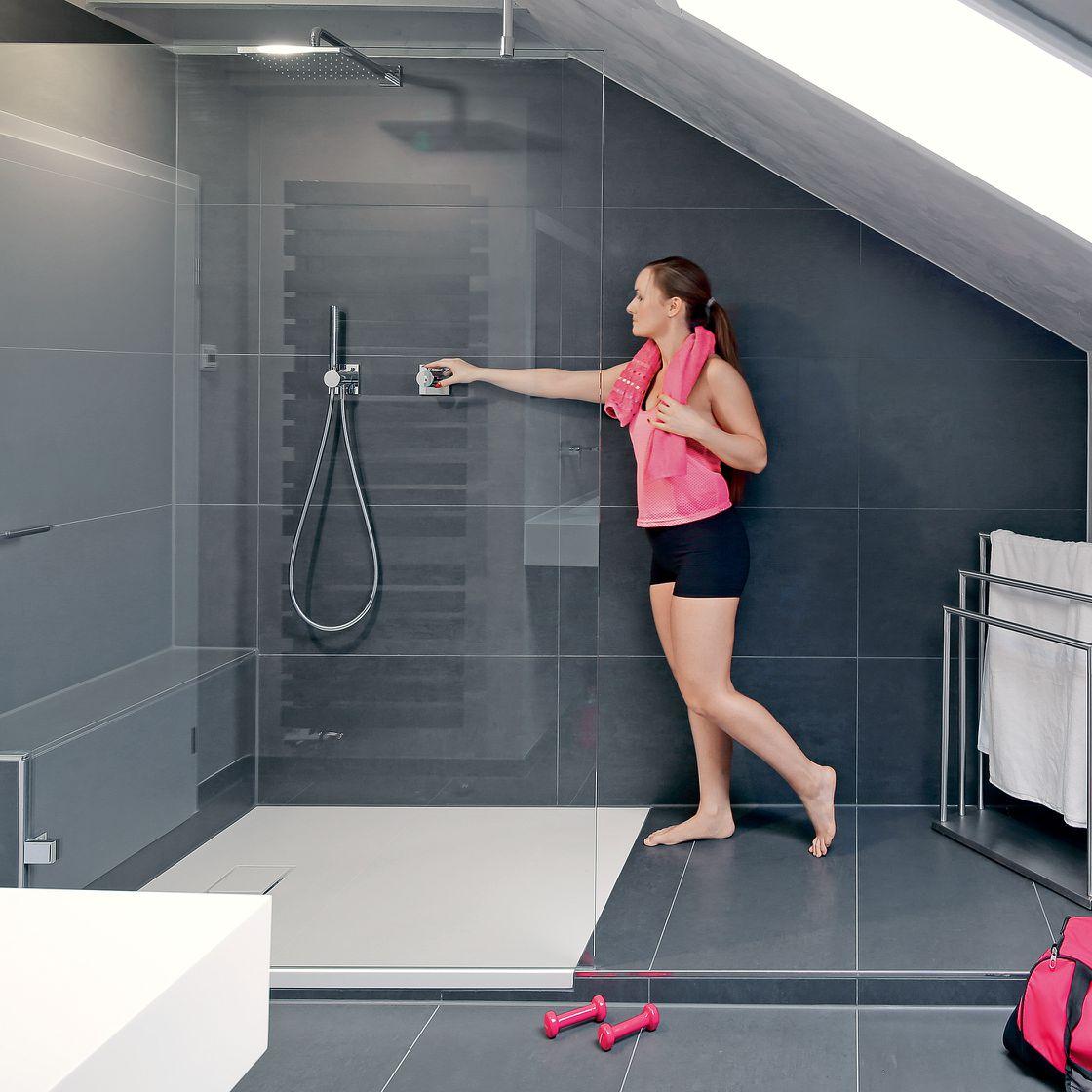 Duschbad mit Dachschräge