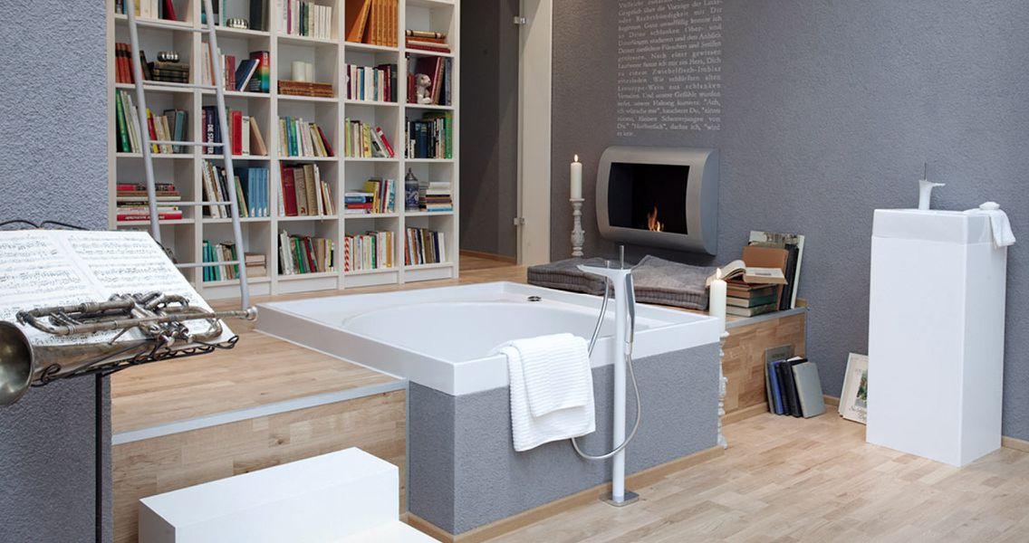 Integrales Bad mit Bibliothek