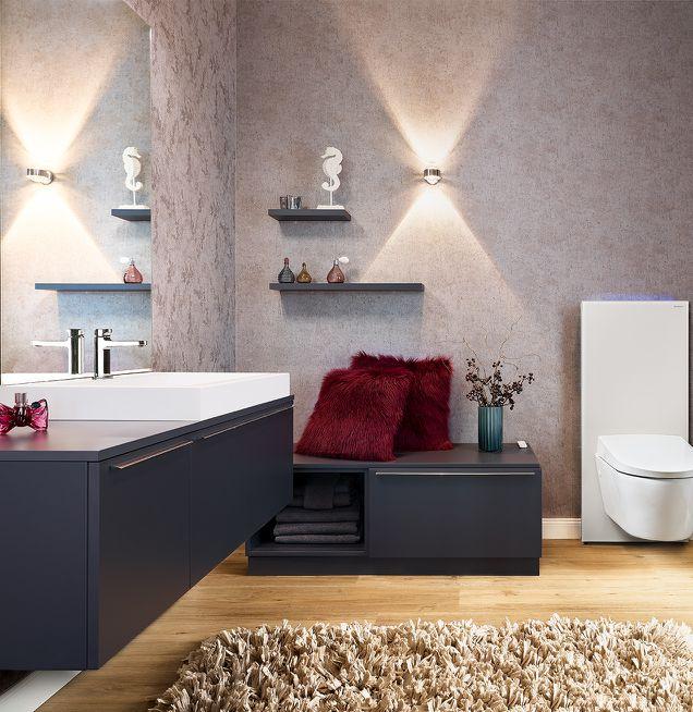Indirekte Wandbeleuchtung im Badezimmer