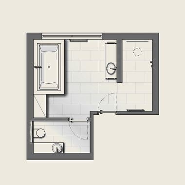 Planungsskizze Funktionsbereiche Die Badgestalter