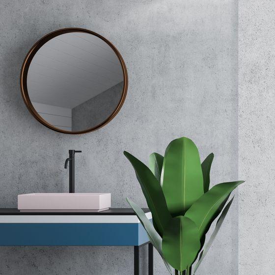 Badezimmer mit Sichtbeton Wand