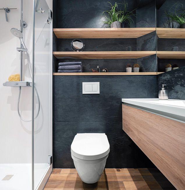 Ordnung im Bad mit geschlossenen Unterbauten