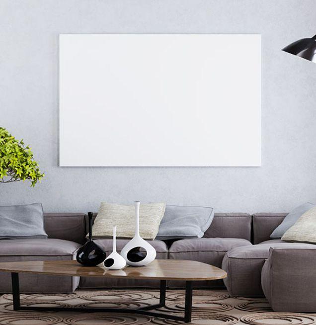Infrarotheizung als Wandbild im Wohnzimmer