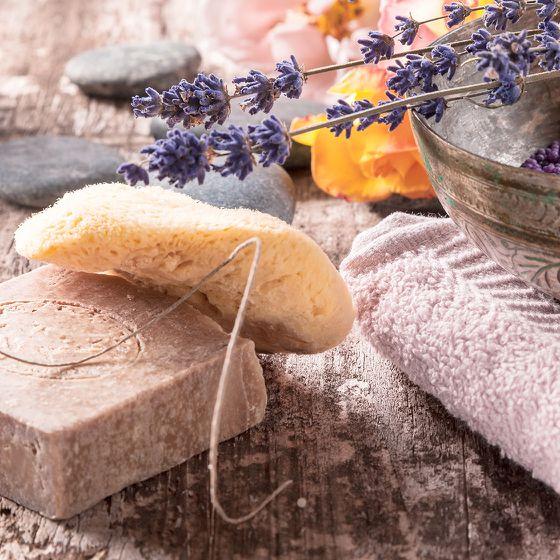 Badaccessoires Ideen mit Lavendel